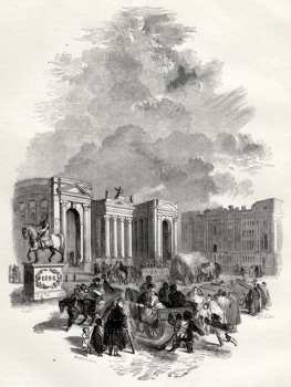 ANTIQUE PRINT: 1. – BANK AND TRINITY COLLEGE, DUBLIN.