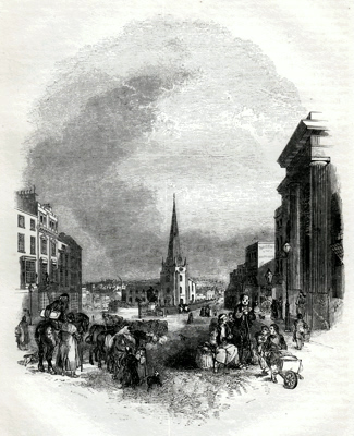 ANTIQUE PRINT: 1. - THE BULL-RING [BIRMINGHAM].