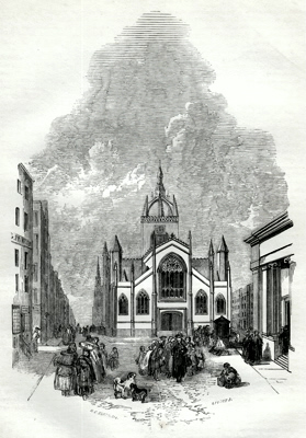 ANTIQUE PRINT: 4. – ST. GILES'S CHURCH AND HIGH STREET [EDINBURGH].
