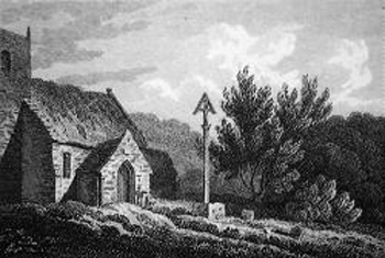 ANTIQUE PRINT: CROSS, SOMERSBY, LINCOLNSHIRE.