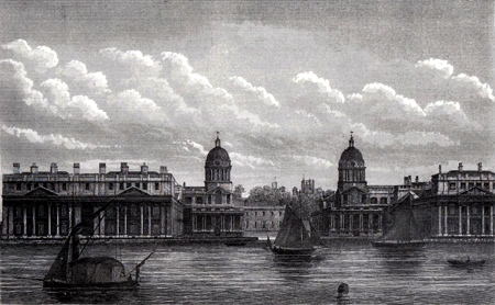 Antique print of Greenwich, London