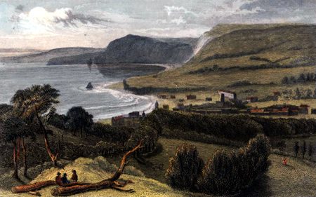 Antique print of Sidmouth