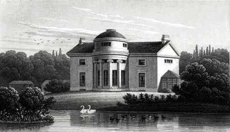 ANTIQUE PRINT: THE HOLME, REGENT'S PARK. THE RESIDENCE OF JAMES BURTON ESQR. ARCHITECT, TO WHOM THIS PLATE IS RESPECTFULLY INSCRIBED.