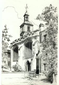 ANTIQUE PRINT: ST. HELEN'S CHURCH, BISHOPSGATE.