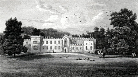 ANTIQUE PRINT: WESTDEAN HOUSE, THE SEAT OF THE RT. HON.BLE LORD SELSEY : SUSSEX.