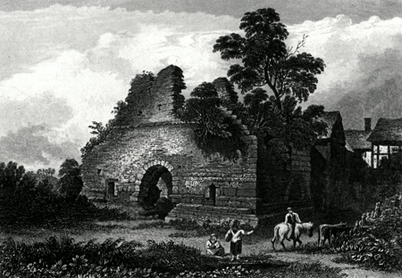 ANTIQUE PRINT: RADCLIFFE TOWER.