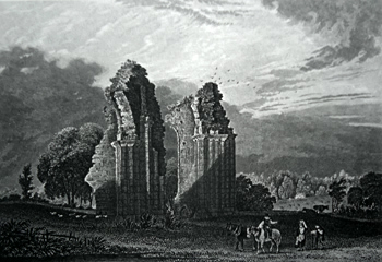 ANTIQUE PRINT: BURSCOUGH ABBEY.