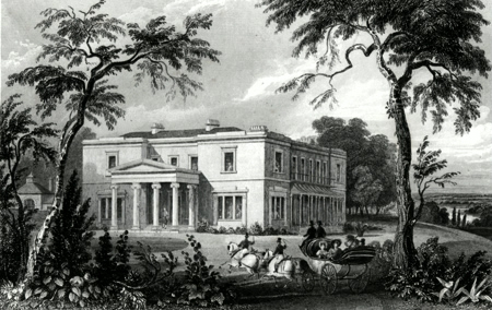 ANTIQUE PRINT: STISTED HALL. NEAR BRAINTREE, ESSEX.