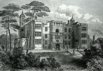 ANTIQUE PRINT: CHARLTON HOUSE IN 1845.