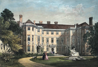 ANTIQUE PRINT: HAM HOUSE, SURREY.