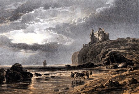 Antique print of Lothian