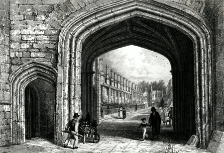 ANTIQUE PRINT: GATEWAY TO THE VICARS CLOSE. – WELLS.