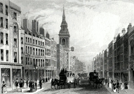 Antique print of Cheapside