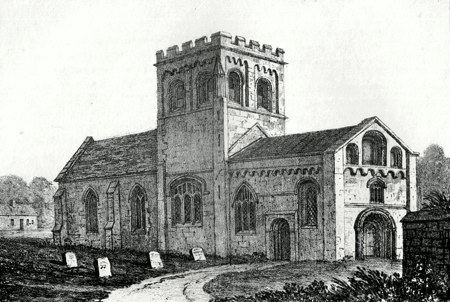 ANTIQUE PRINT: IFFLEY CHURCH : OXFORD.