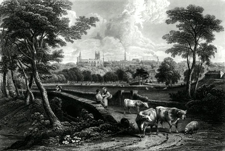 ANTIQUE PRINT: DUNFERMLINE.