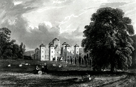 ANTIQUE PRINT: MURTHLY CASTLE.