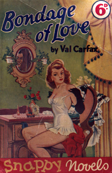 """CARFAX, Val"" : [COVER TITLE] BONDAGE OF LOVE."