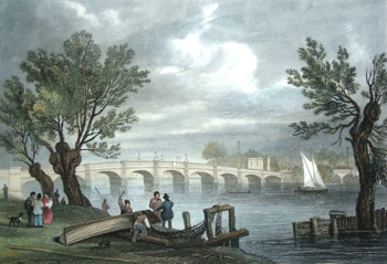 Antique print of the Thames by William Tombleson
