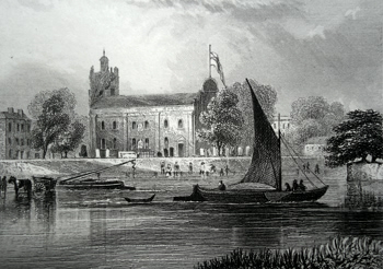 Antique print of Isleworth, Middlesex