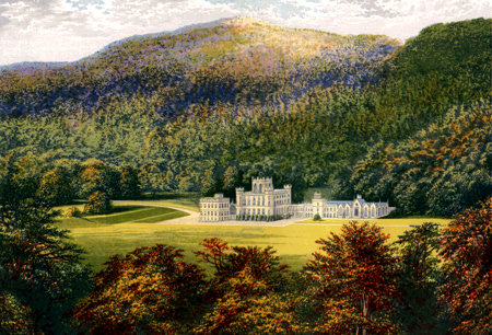 ANTIQUE PRINT: TAYMOUTH CASTLE.