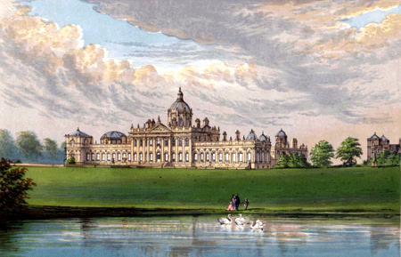 ANTIQUE PRINT: CASTLE HOWARD.