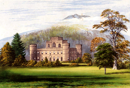 ANTIQUE PRINT: INVERARY CASTLE.
