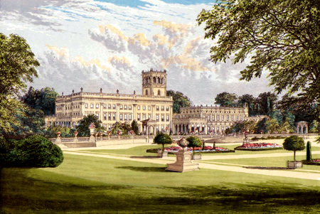 ANTIQUE PRINT: TRENTHAM HALL.
