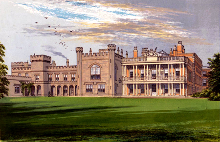 ANTIQUE PRINT: KNOWSLEY HALL.