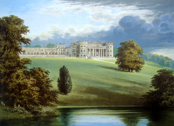 ANTIQUE PRINT: BOWOOD PARK.