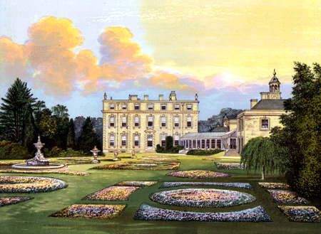 ANTIQUE PRINT: DITCHLEY HOUSE.