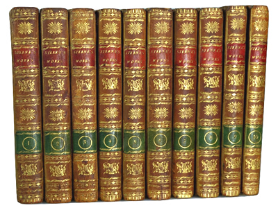 STERNE, Laurence, 1713-1768 : THE WORKS OF LAURENCE STERNE IN TEN VOLUMES COMPLETE.