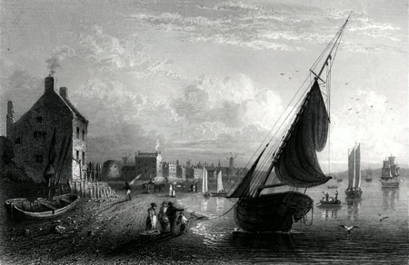 "ANTIQUE PRINT: THE ANCIENT ""WISHING-GATE"", LIVERPOOL."