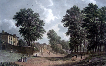 Antique print of Hampstead, North West London