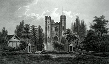 ANTIQUE PRINT: SEVEN DROOG CASTLE, SHOOTERS HILL.