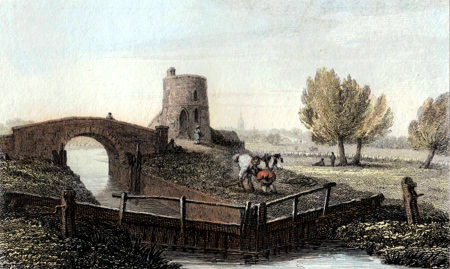 ANTIQUE PRINT: INGLESHAM LOCK.