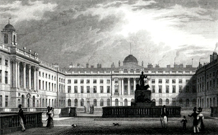 ANTIQUE PRINT: INTERIOR QUADRANGLE, SOMERSET HOUSE.