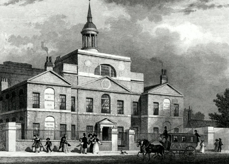ANTIQUE PRINT: CITY OF LONDON LYING-IN HOSPITAL.