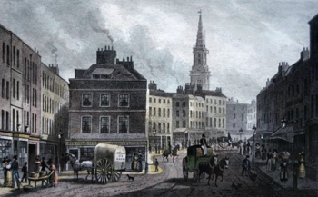 ANTIQUE PRINT: [HIGH HOLBORN] BROAD STREET, BLOOMSBURY.