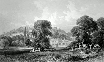 ANTIQUE PRINT: WONERSH PARK.