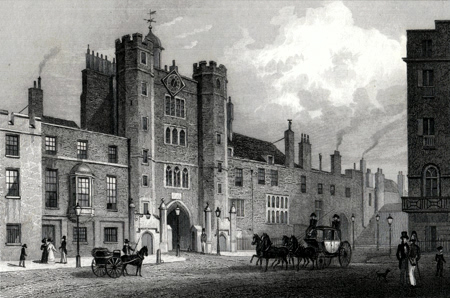 Antique print of St. James's Palace