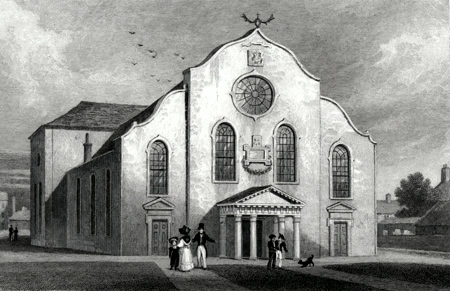 ANTIQUE PRINT: CANONGATE CHURCH, EDINBURGH.