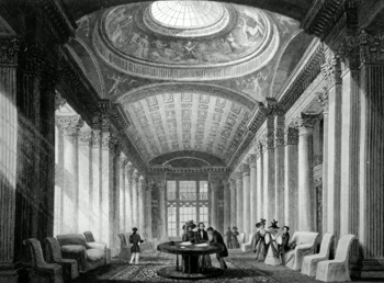 ANTIQUE PRINT: INTERIOR OF THE ADVOCATE'S LIBRARY. EDINBURGH.
