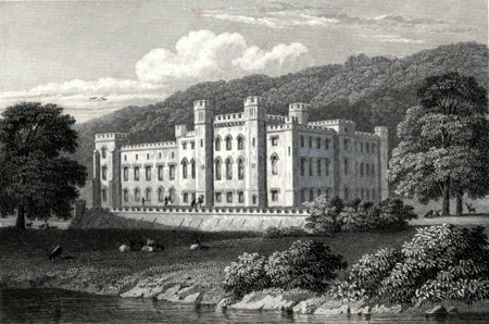 ANTIQUE PRINT: SCONE PALACE. PERTHSHIRE.