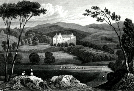 ANTIQUE PRINT: FINGASK CASTLE, PERTHSHIRE.