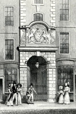 ANTIQUE PRINT: SADLER'S HALL, CHEAPSIDE.