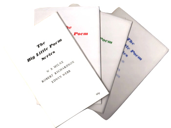 RICHARDSON, Robert – editor : THE BIG LITTLE POEM SERIES.