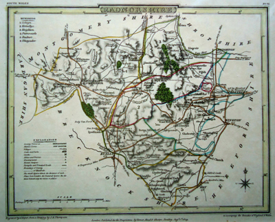 ANTIQUE MAP: RADNORSHIRE.
