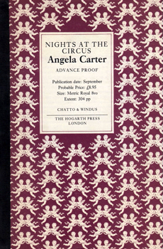 CARTER, Angela, 1940-1992 : NIGHTS AT THE CIRCUS.