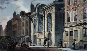 Antique print of St. Swithin, Cannon Street