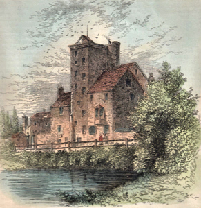 ANTIQUE PRINT: CANONBURY TOWER, ABOUT 1800.